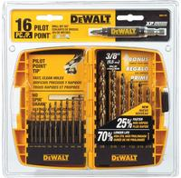 $9.99 DeWalt Gold Ferrous Pilot Point钻头16件套