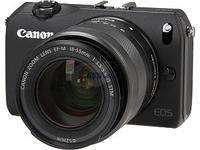 "$299.99 Canon EOS M (6609B074) Black 18 MP 3.0"" 1040K LCD Compact Mirrorless System Camera with EF-M 18-55mm f/3.5-5.6 IS STM Kit"