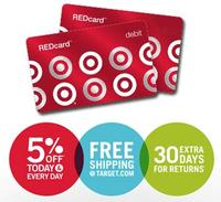 Extra 5% off  Everything both in-stores and online with Target REDcard