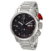$870 EDOX Men's WRC Chronorally Automatic Watch 01112-3-NIN