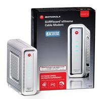 $89.99 MOTOROLA SB6141 SURFboard DOCSIS 3.0 Cable Modem & Free N300 Router