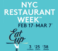 3 courses for $25 + $5 Amex Statement Credit NYC Restaurant Week