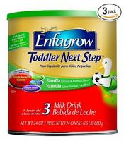 $33.39 Enfagrow Toddler Next Step Vanilla, Powder Can, 24 Ounce (3 Packs)
