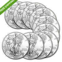 $249.99 2014 1 oz Silver American Eagle (Lot of 10)