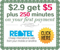Buy $2.9 Get Additional $5 Rebtel Newest Offer (Dealmoon Exclusive)
