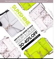 New Styles Added! Up to 40% Off Sale Items @ Rebecca Minkoff