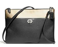 COACH Legacy Turnlock Crossbody in Mirror Metallic Leather