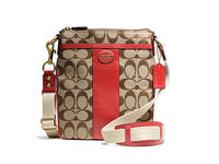 $77.39 Coach Legacy Signature Swingpack Handbag
