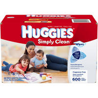 $8.42 Huggies Simply Clean Fragrance Free Baby Wipes Refill, 648 Count