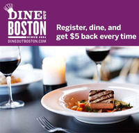 $5 credit with $21 order Dine Out Boston 2014