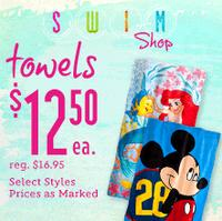 $12.50 Selected Towels @ Disney Store