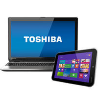 "$699.99 Toshiba Satellite E55T-A5320 15.6"" Laptop & Encore Tablet Package"