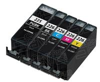 $1 Compatible Canon PGI225 & CLI226 Set of 5 Inkjet Cartridges for Canon Pixma Printers