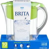 $23.49 Brita Grand Water Filter Pitcher, 10 Cup in Green
