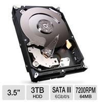 $99.99 Seagate 3TB SATA Internal Hard Drive