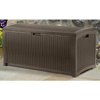 $65.69 Suncast Mocha Wicker Resin 73 Gallon Deck Box
