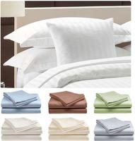 $17.99 Hotel Life Deluxe 100% Cotton Sateen Deep Pocket 300 Thread Count Sheets