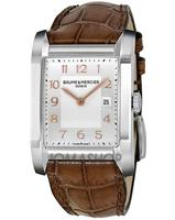 $899 Baume and Mercier Leather Mid Size Watch(2 styles)