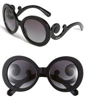 $217.50 Prada 'Baroque' 55mm Round Sunglasses
