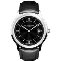 $339 Raymond Weil Tradition Black or White Leather Mens Watch (2 styles)