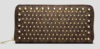 $138.6 MICHAEL Michael Kors Studded Zip Around Continental Wallet