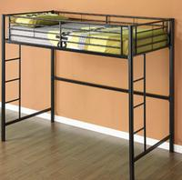 $149 Twin Premium Metal Loft Bed, Black