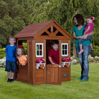 $174.50 Backyard Discovery Timberlake Cedar Wooden Playhouse