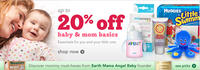 Up to 20% Off Baby and Mom Basics @  Drugstore