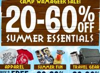 20%~60% Off summer essentials Camp Wamageek Sale @ Think Geek