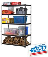 "$58.00  Edsal 48"" 5-Shelf Steel Shelving Unit  UR245L-BLK"