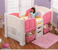 $250.98 Step2 Girls' Loft & Storage Twin Bed