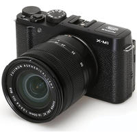 $415 Fujifilm X-M1 Mirrorless 16MP Digital Camera with Silver XC 16-50mm f/3.5-5.6 OIS Lens