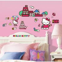 $7.50 Hello Kitty The World of Hello Kitty Peel and Stick Wall Decals