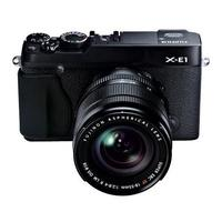 $649 Fujifilm X-E1 Mirrorless Digital Camera with 18-55mm Lens W/ SanDisk 16GB Memory Vault  and Fujifilm Hand Grip