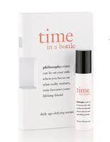 Free Deluxe Time in A Bottle Daily Age-defying Serum Sample  with Any Moisturizer Purchase @philosophy
