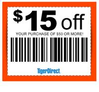 $15 off $100 TigerDirect Extra Saving