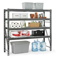 $139.96 Gladiator GARS774SZG 4-Shelf 77 in. W x 73 in. H X 24 in. D Steel Shelving Unit