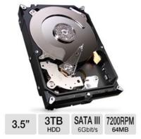 $84.49 Seagate Barracuda 7200.14 3TB Hard Drive ST3000DM001