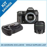 $1296.95 Pentax K-3 DSLR Camera + DA 18-55mm WR + D-BG5 Battery Grip + 16GB Wifi FluCard