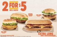 2 For $5  Select Sandwiches @ Burger King