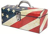 "$9.96 Sainty International 16"" Old Glory Art Deco Tool Box 24-026"
