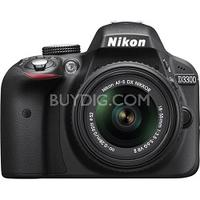 $496.95 Nikon D3300 24.2 MP DSLR with 18-55mm VR II Lens(Factory Refurbished)