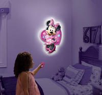 $11.66 Uncle Milton Wall Friends Minnie Mouse, Talking Room Light