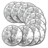 $234.99 2014 1 oz Silver American Eagle (Lot of 10)