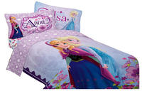 Disney 64 by 86-Inch Frozen Celebrate Love Comforter, Twin