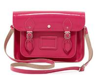 "$112 Cambridge Satchel Company 13"" Patent Leather Satchel, Orchid Fuchsia"