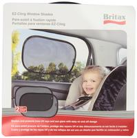 $9.29 Britax 2 Pack EZ-Cling Sun Shades, Black