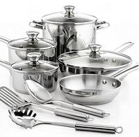 $39.99 Tools of the Trade Stainless Steel 12 Piece Cookware Set