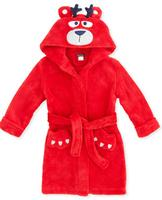 $8.00 Petit Lem Kids' Reindeer Bear Hooded Plush Robe