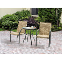 $69.00 Mainstays Spring Creek 3-Piece Outdoor Bistro Set, Seats 2